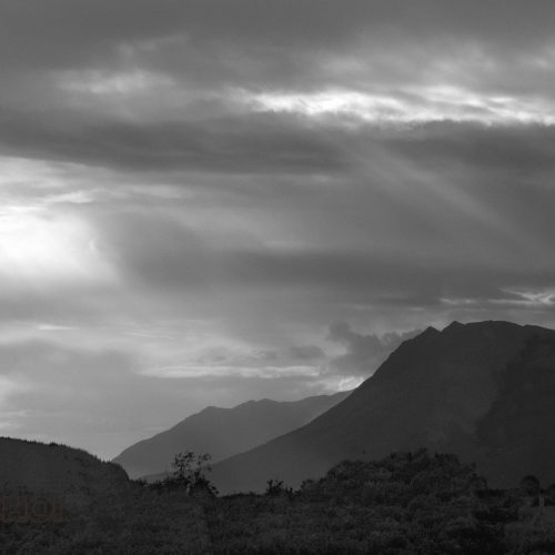 BW Mountain Landscape