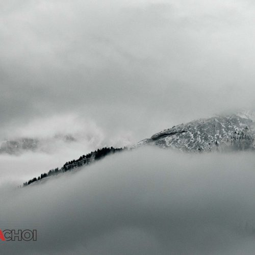 Cloudy Mountain Peak