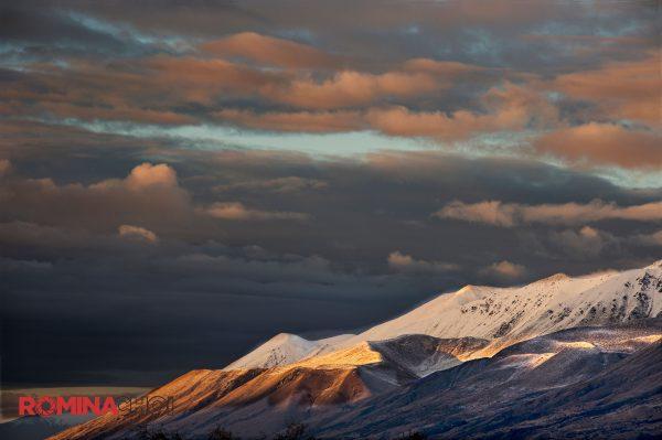 Snowy Mountain Dawn
