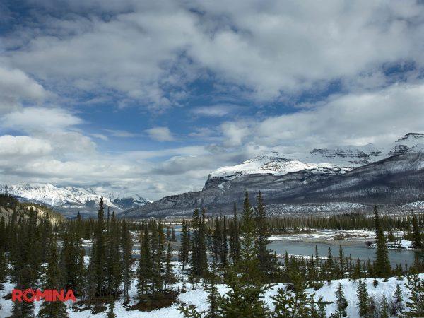 Snowy Mountain Range Landscape